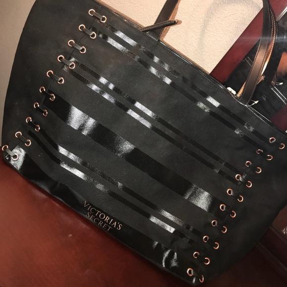 Victoria's Secret Handbags - Brand new Victoria Secret large black tote bag